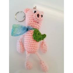 Schlüsselanhänger Schweinchen