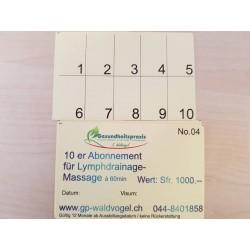 10er Abonnement Lymphdrainage